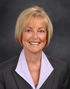 Headshot photograph of Kathie Gaddie.