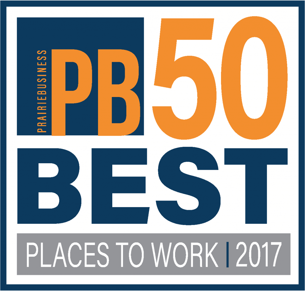 Prairie Business 50 Best Places to work logo