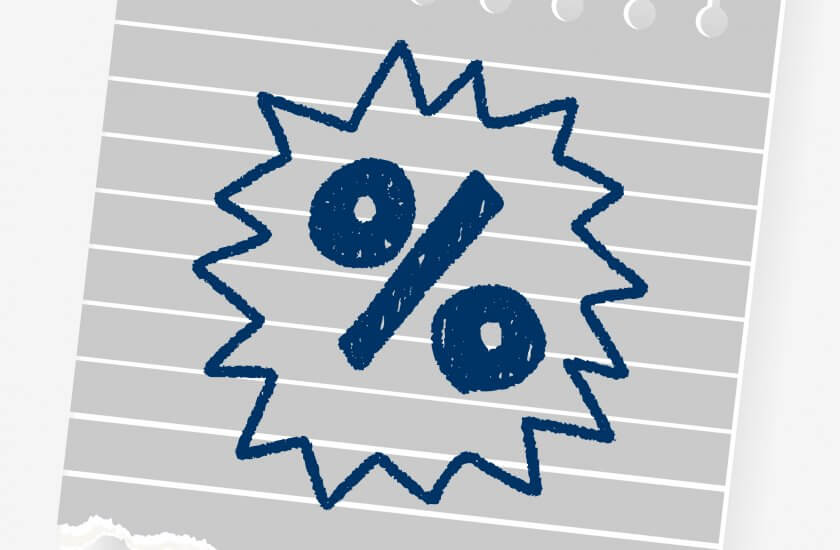 Cartoon Percentage Sign